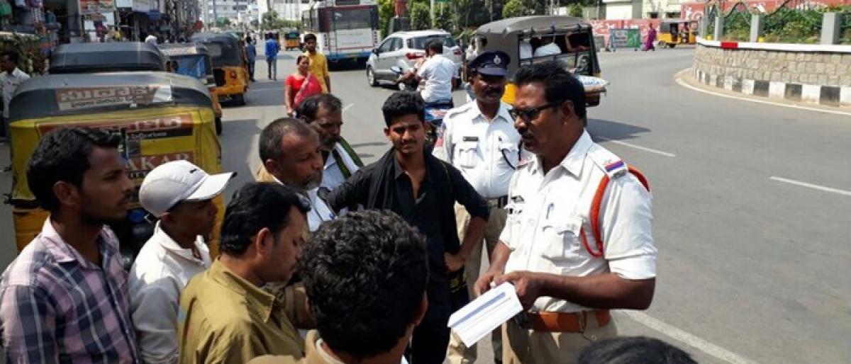 Auto drivers sensitised on digitisation of data in Khammam