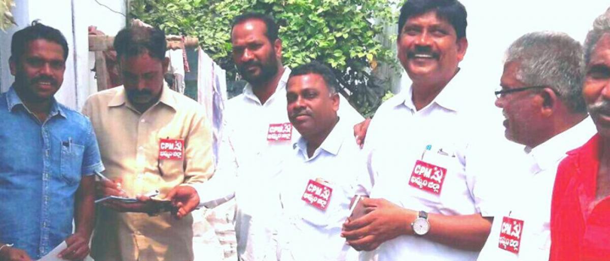 CPM leaders launches door-to-door campaign in Khammam