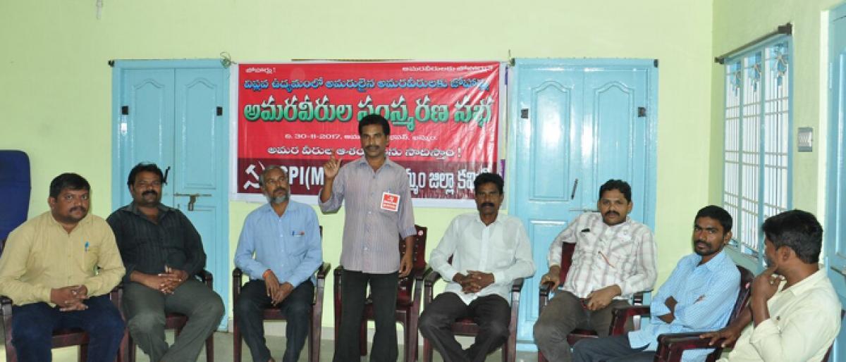CPI-ML Red Flag demands govt fulfill poll promise