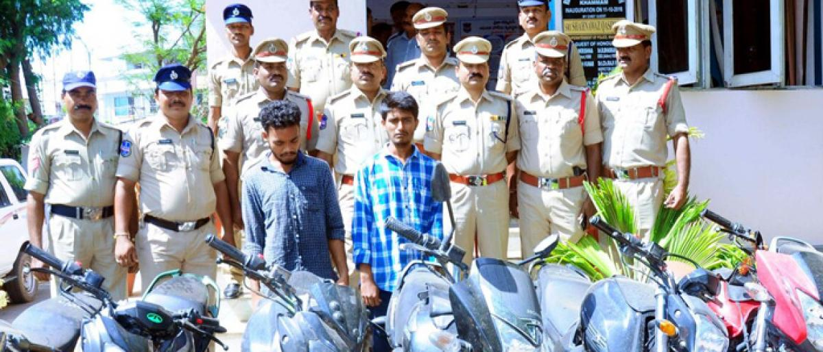 Motor bike gang busted; 12 motorcycles recovered