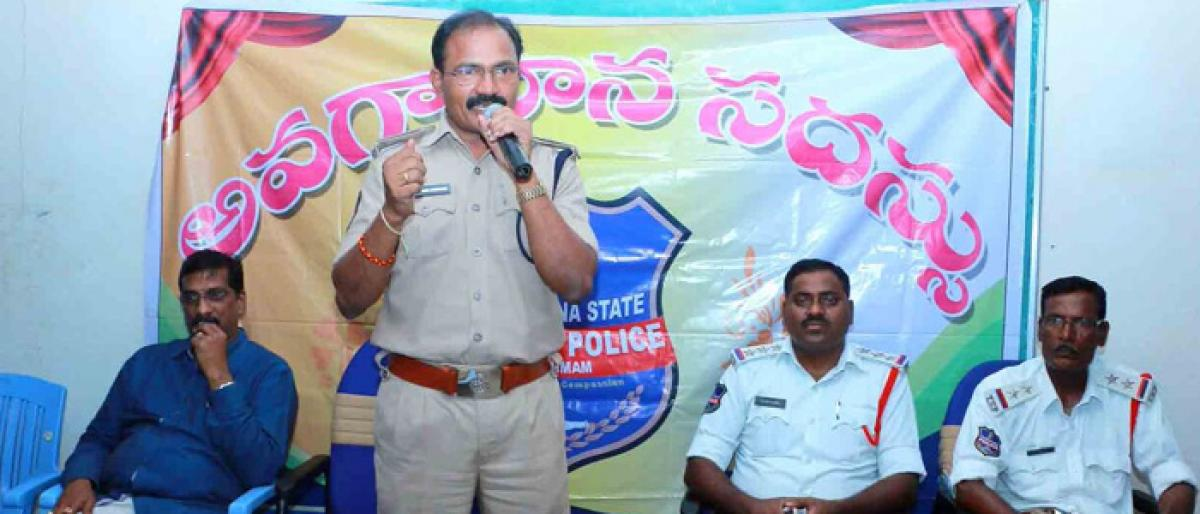 Traffic awareness programme held in Khammam