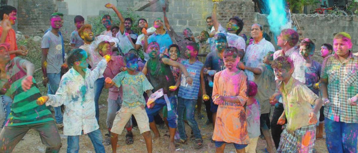 Euphoric Holi celebrations at Oasis Orphanage