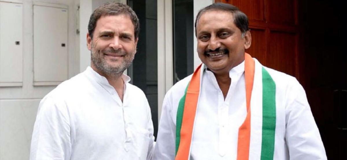 Former Andhra Pradesh CM N Kiran Kumar Reddy rejoins Congress