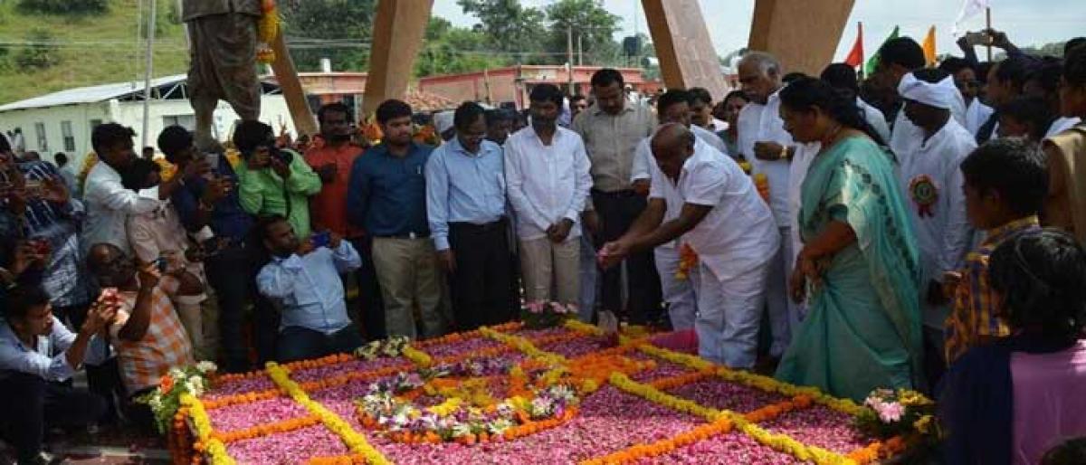 Komaram Bheem's death anniversary observed