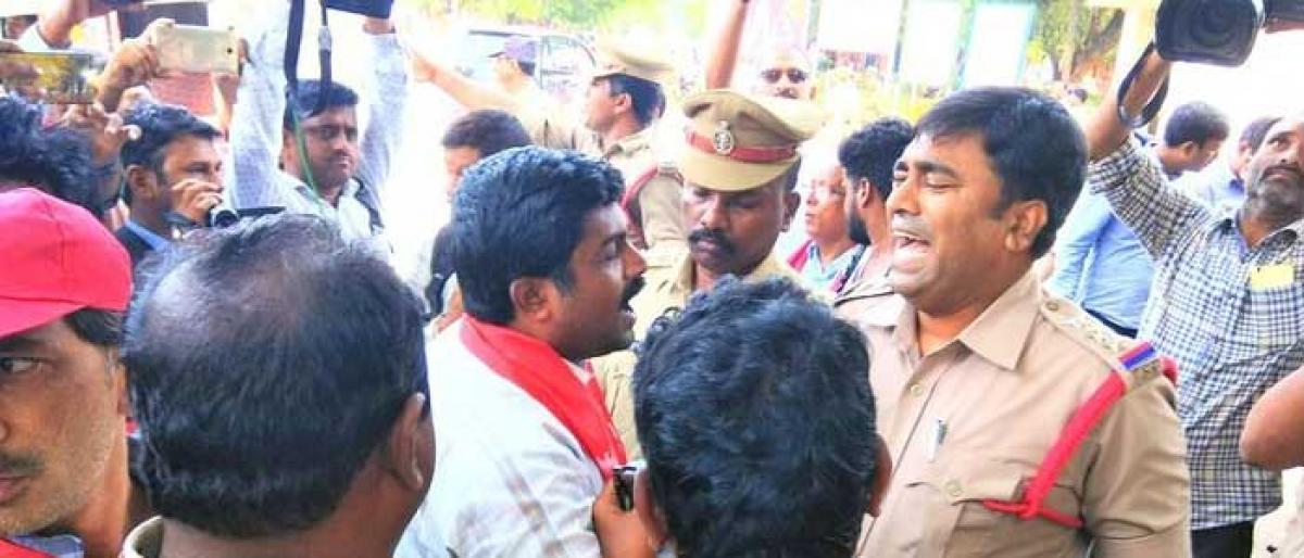 Tension prevails at Kothagudem