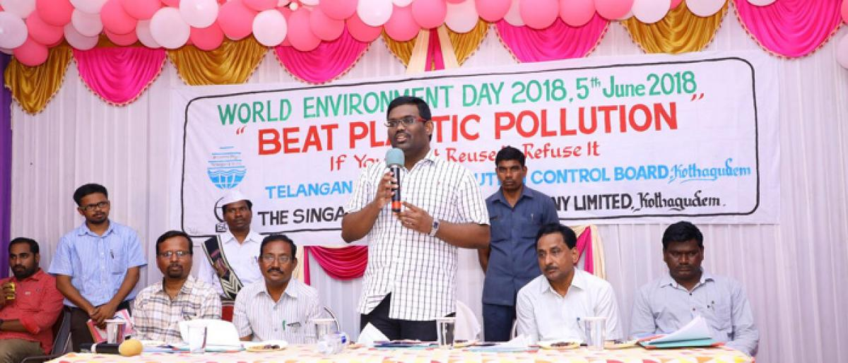 Avoid use of plastic in daily life, says Kothagudem Collector