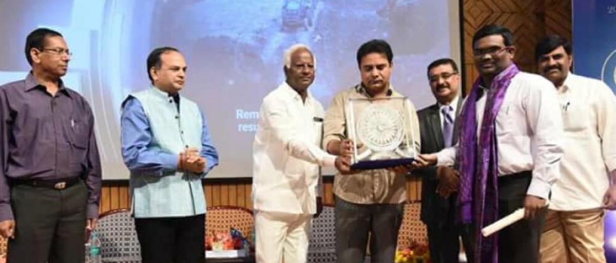 Staff congratulates Kothagudem Collector