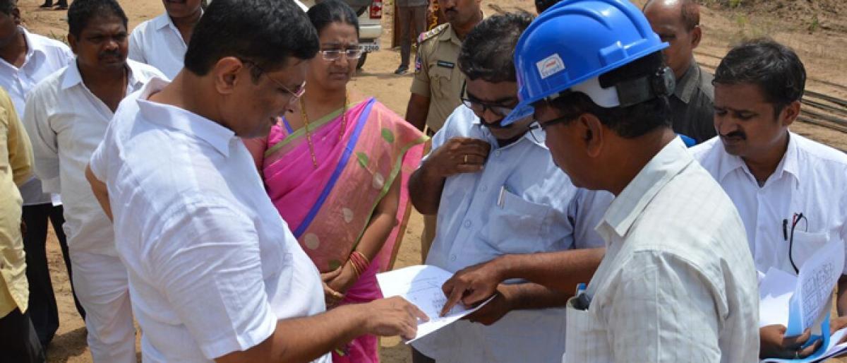 Kothagudem MLA inspects development works