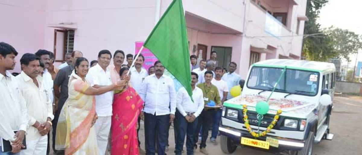 13 vehicles of 102 services launched in Kothagudem