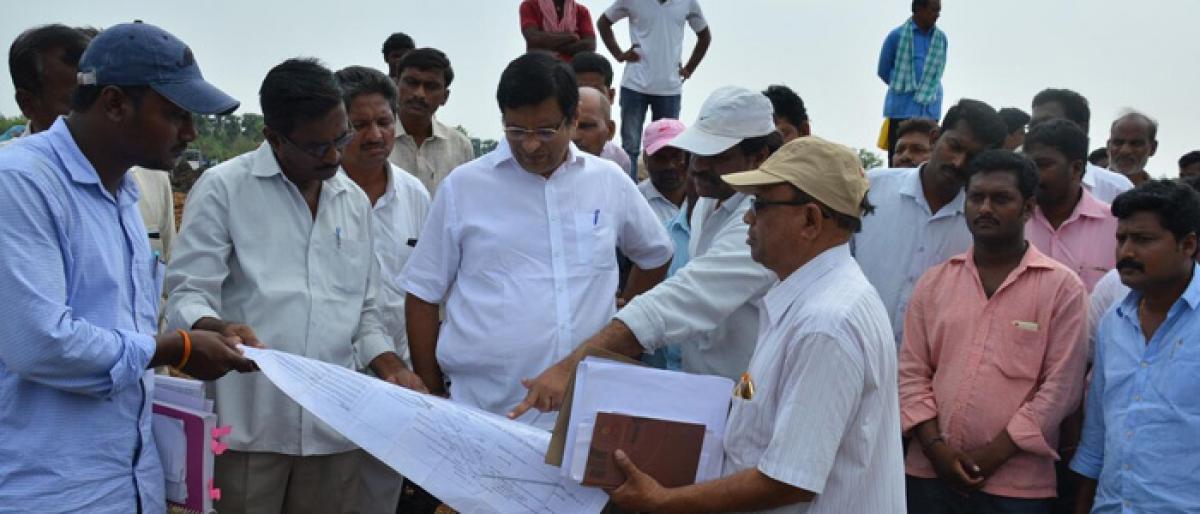 Kothagudem MLA inspects check dam