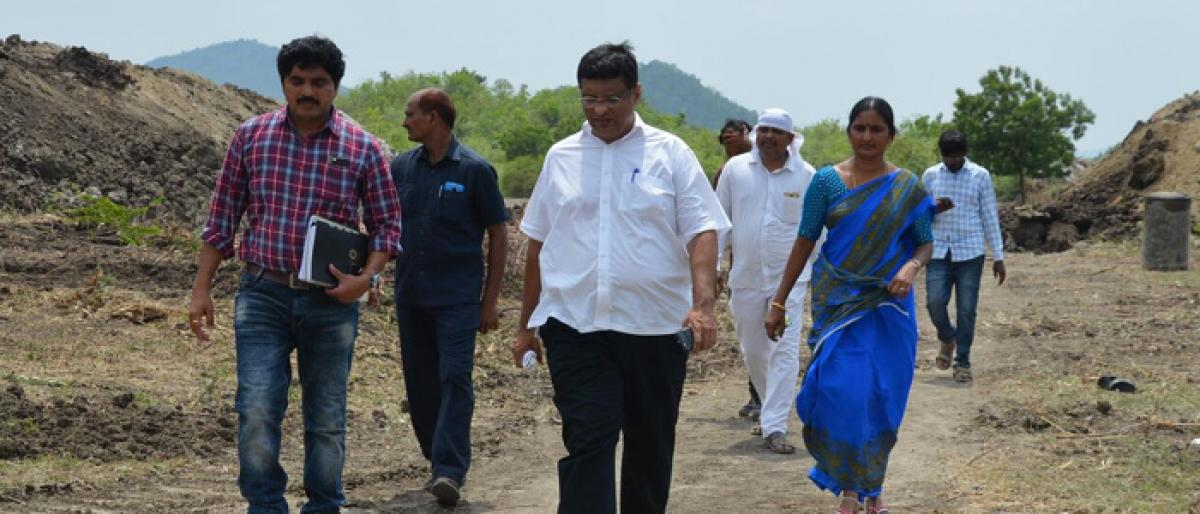 Kothagudem MLA inspects check dam construction works