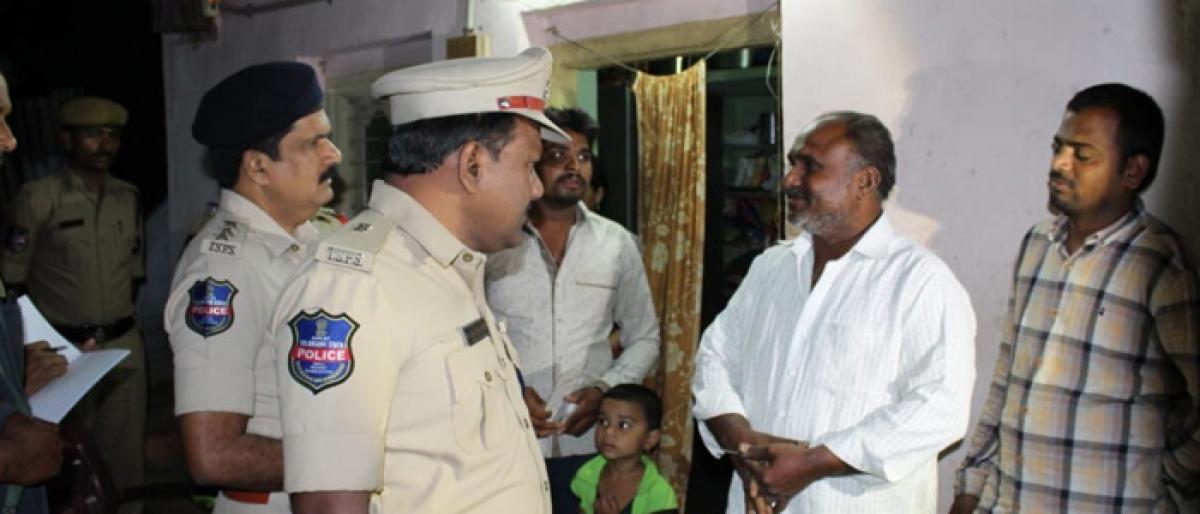 Cops conduct cordon & search in Kothagudem
