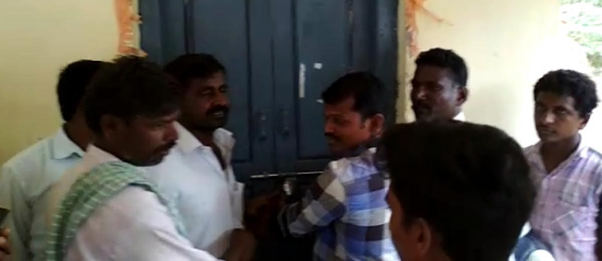 Angry over lack of teachers, villagers lock Upper Primary school  in Gadwal