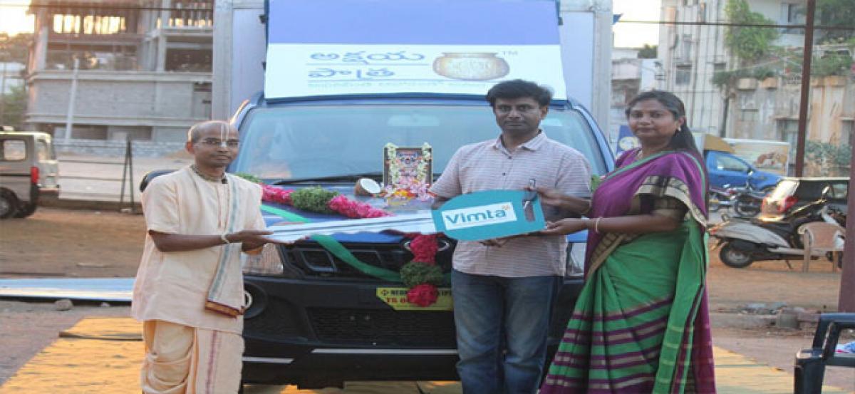 VIMTA Labs donates vehicle to Akshaya Patra Foundation