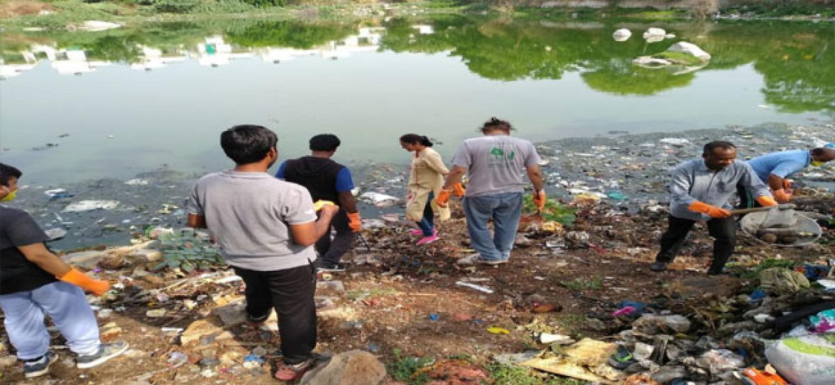 Errakunta Lake cleaning begins