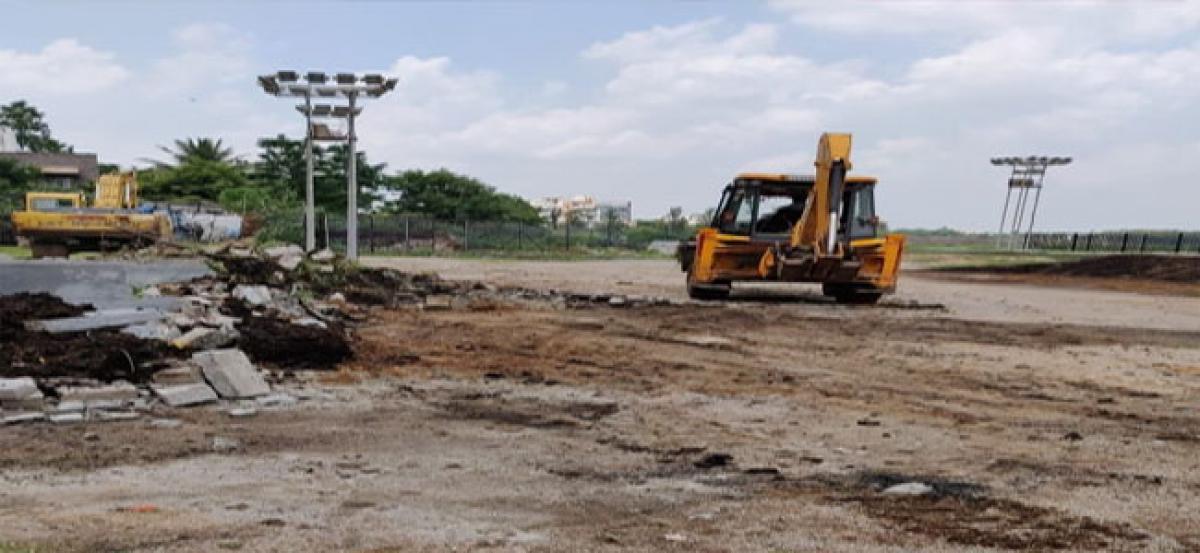 GHMC demolishes 28 compost pits