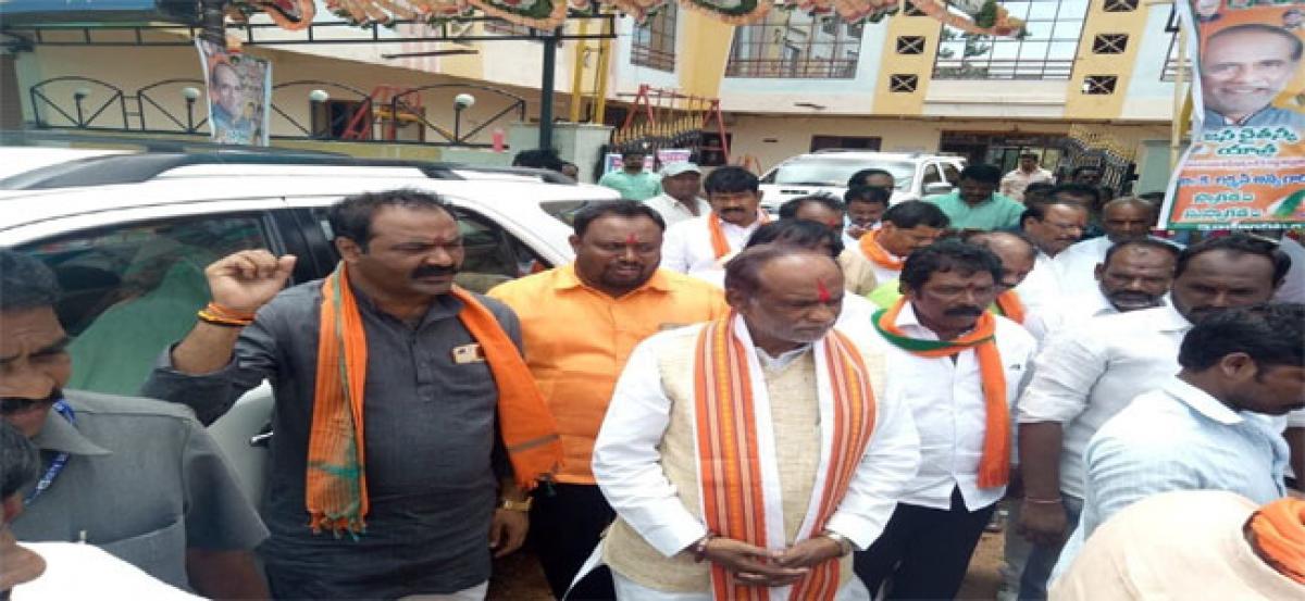 Laxman launches Janachaitanya Yatra