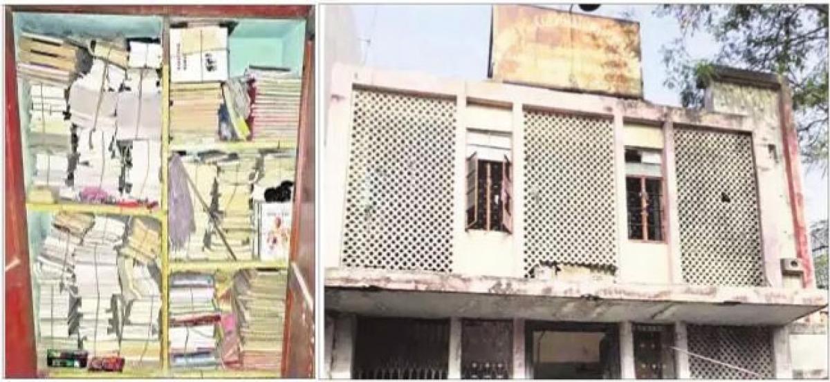 Sardar Vallabhbhai Library in a shambles