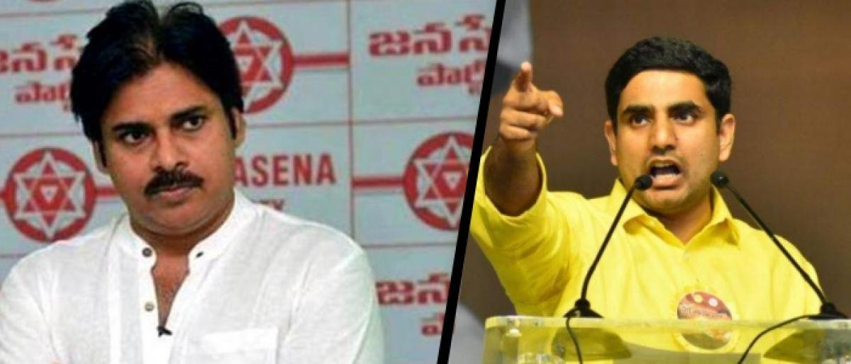 Lokesh Poser To Pawan On His Silence