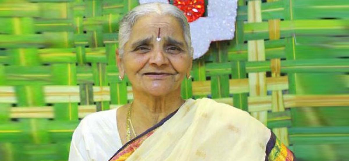KCRs sister passes away; CM rushing back to Hyderabad