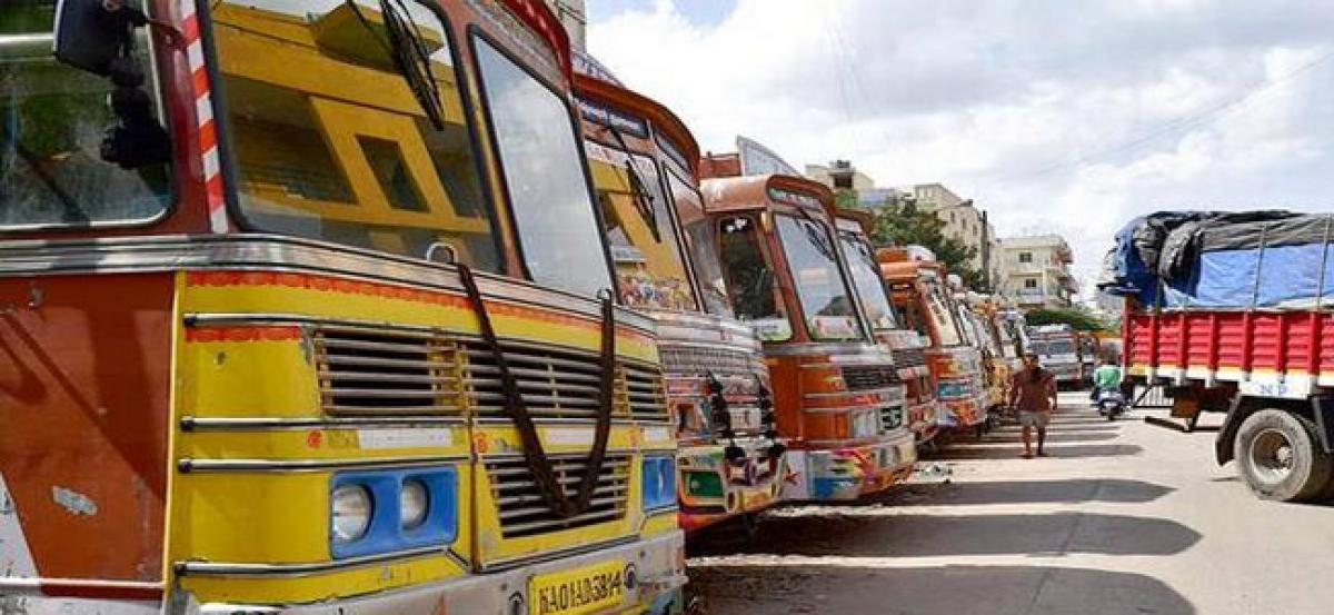 Lorry drivers take on indefinite strike in Telangana today to bring down fuel prices