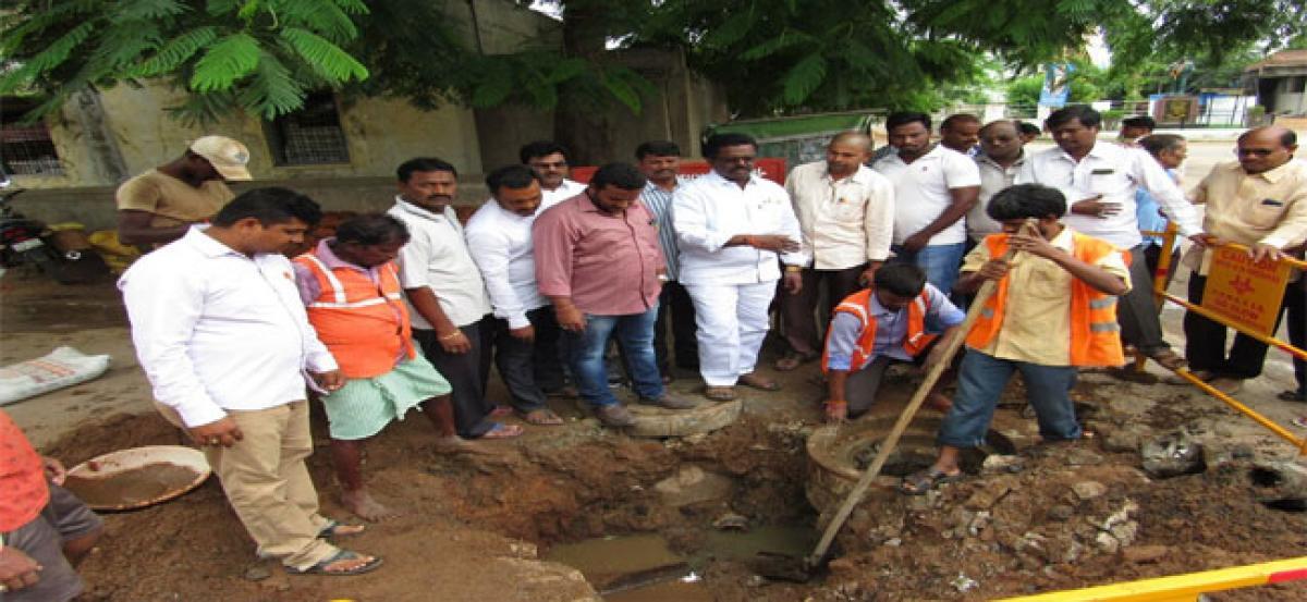 Pannala Devendar Reddy solves water contamination problem