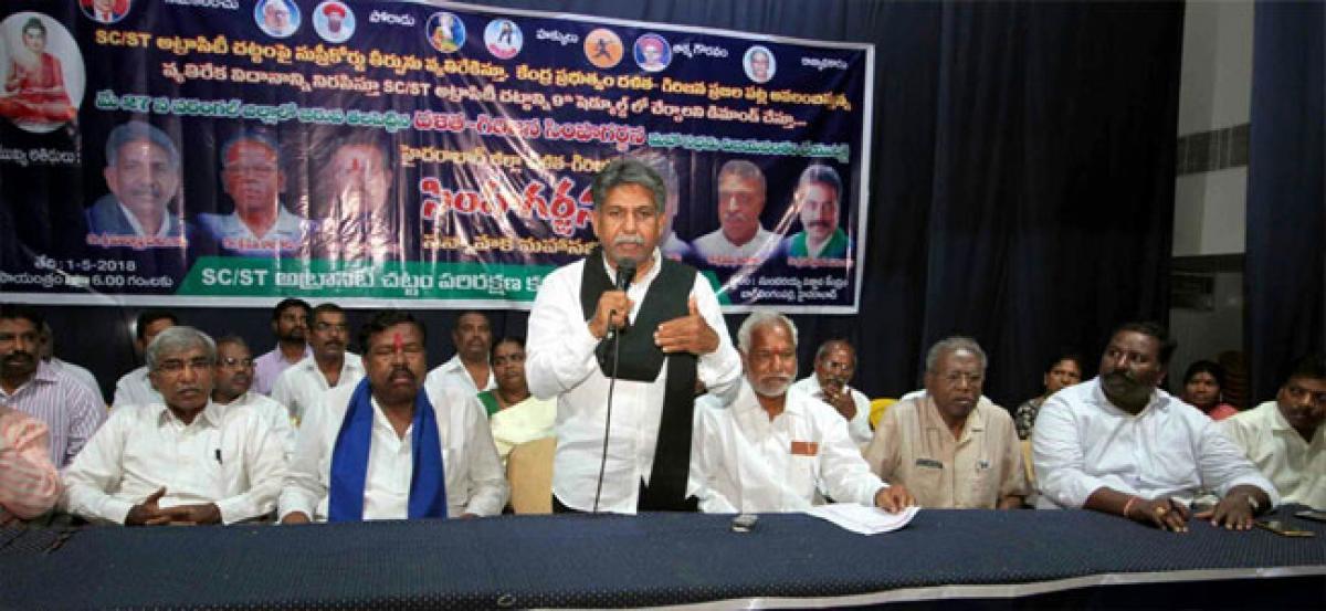 Manda Krishna Madiga warns Centre over its attitude towards Dalits