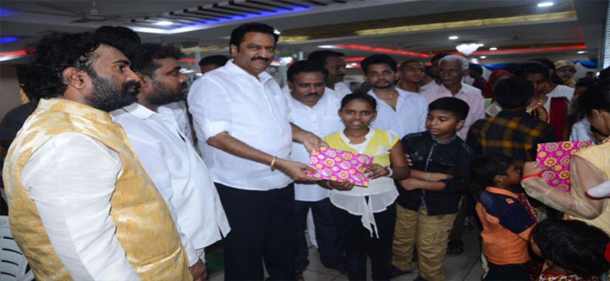 Maganti celebrates 'Atmeeya Sammelanam' with party cadre