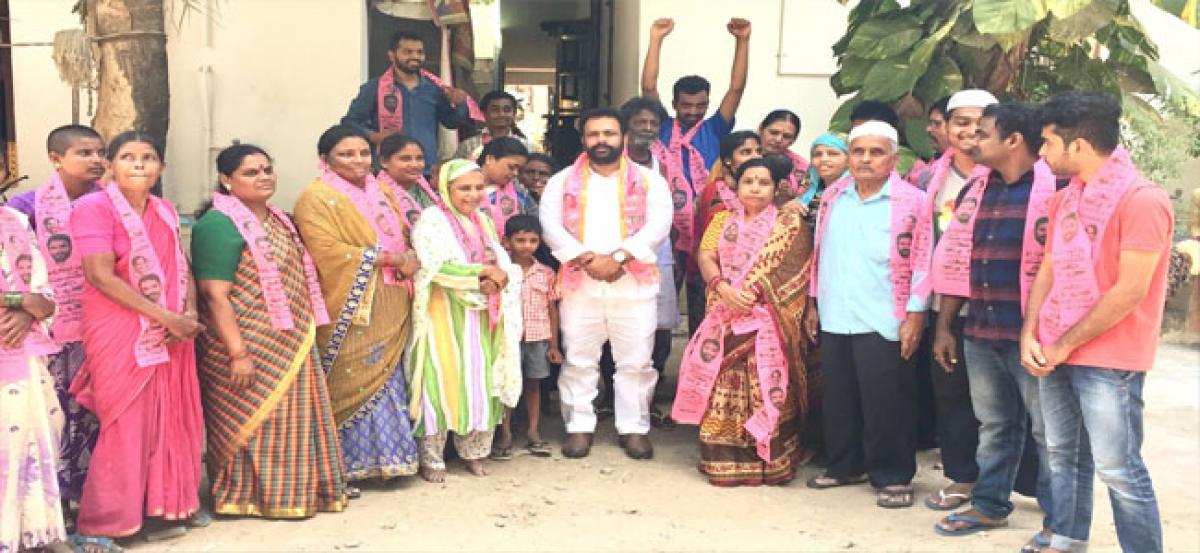 Nava Nirman Nagar residents join TRS