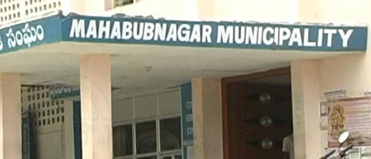 Mahbubnagar Municipality tax collection declines