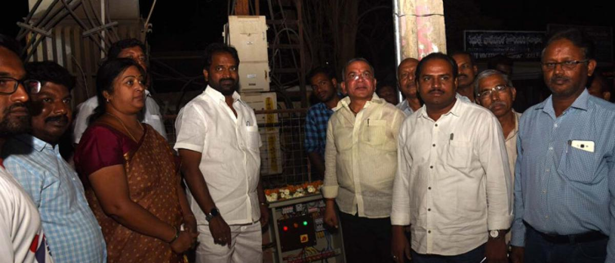 LED lights illuminate Mahbubnagar