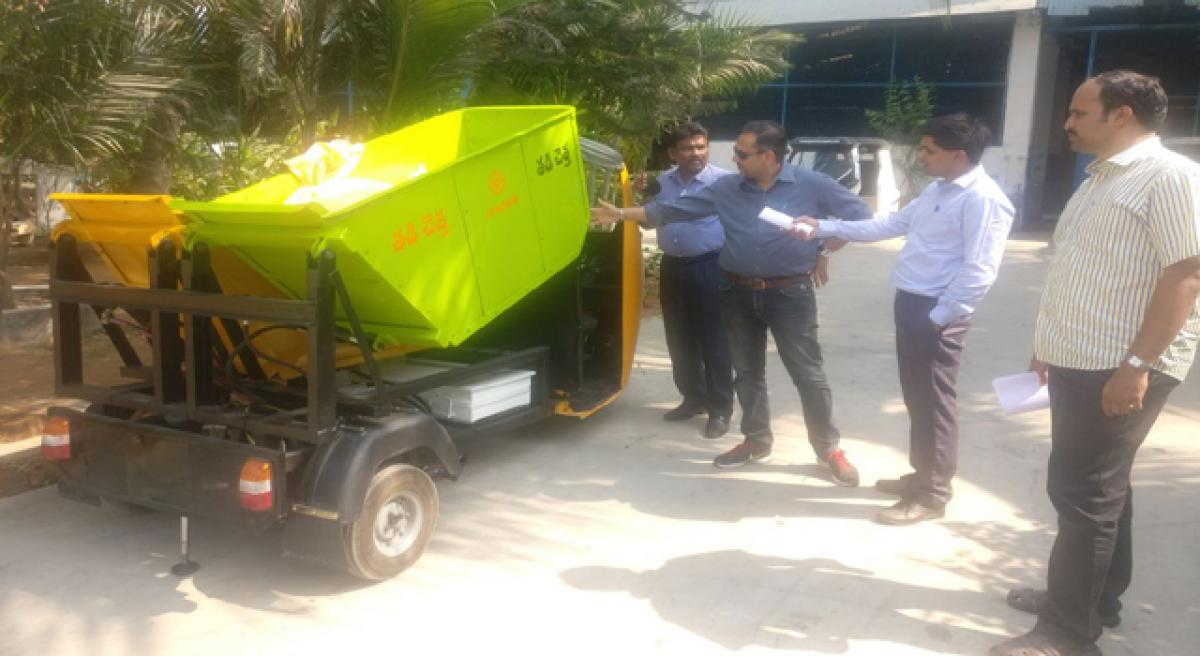 Municipal Corporation of Tirupati 's new initiative for clearing garbage