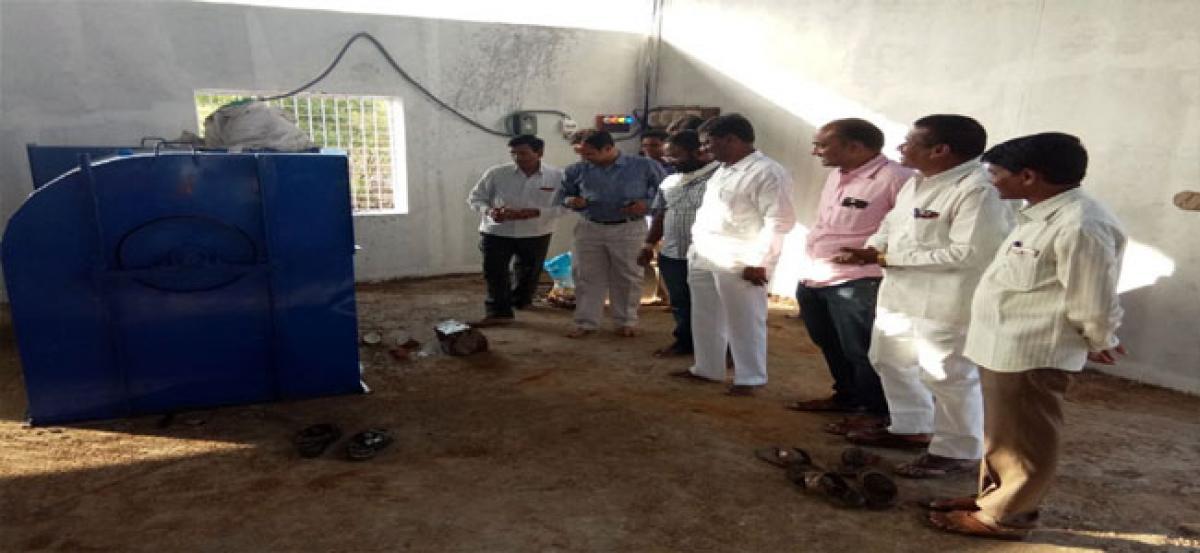 Trial run of waste dust machine held