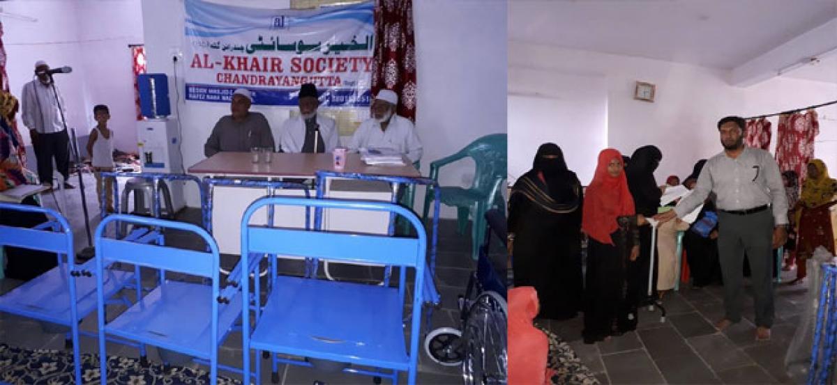Al-Khair Society distributes walking aides