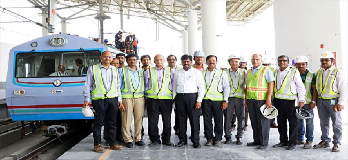 Panjagutta to LB Nagar Metro traction system inspected