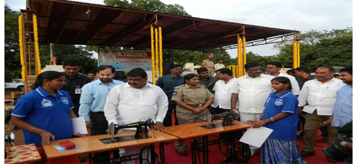 Sewing machines distributed to tribal women in Vikarabad