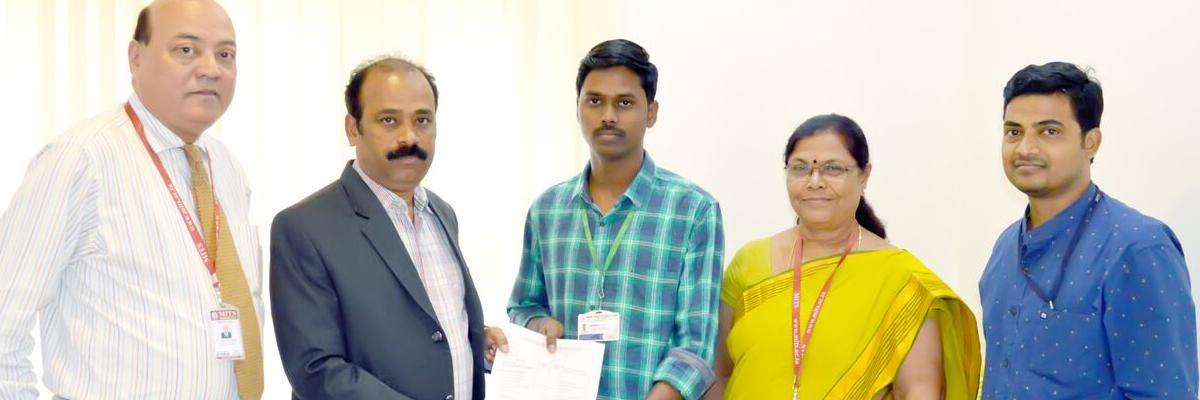 MITS student selected for research internship