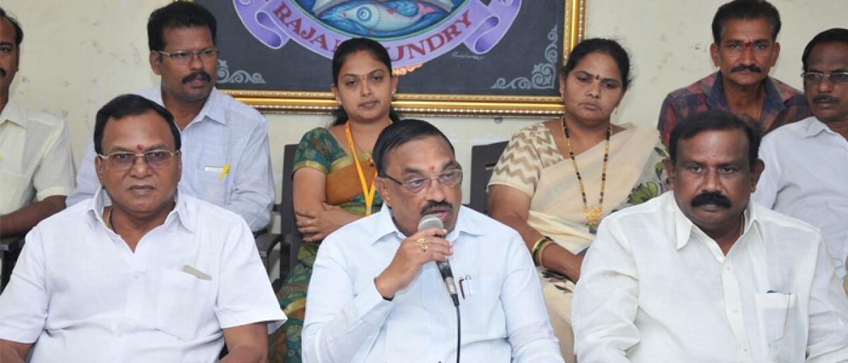 BJP jealous as Naidu's popularity grows: TDP MLC Adireddy Appa Rao