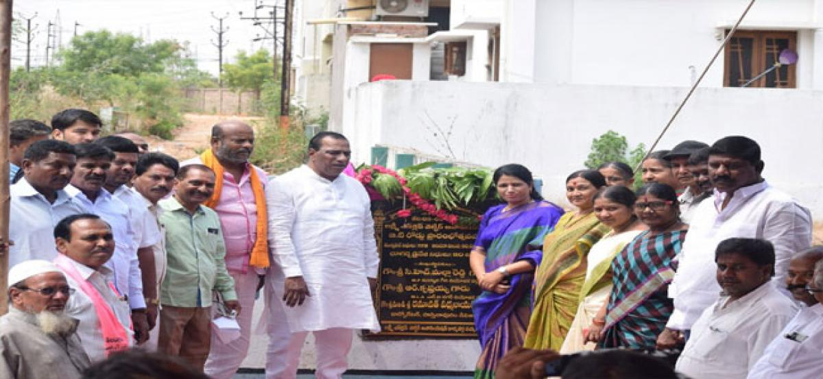 MP lays foundation for `5.2 crore development works