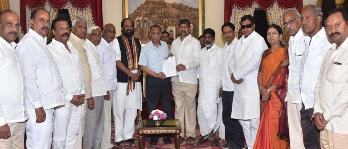 Opposition makes strong pitch for Prez rule in Telangana