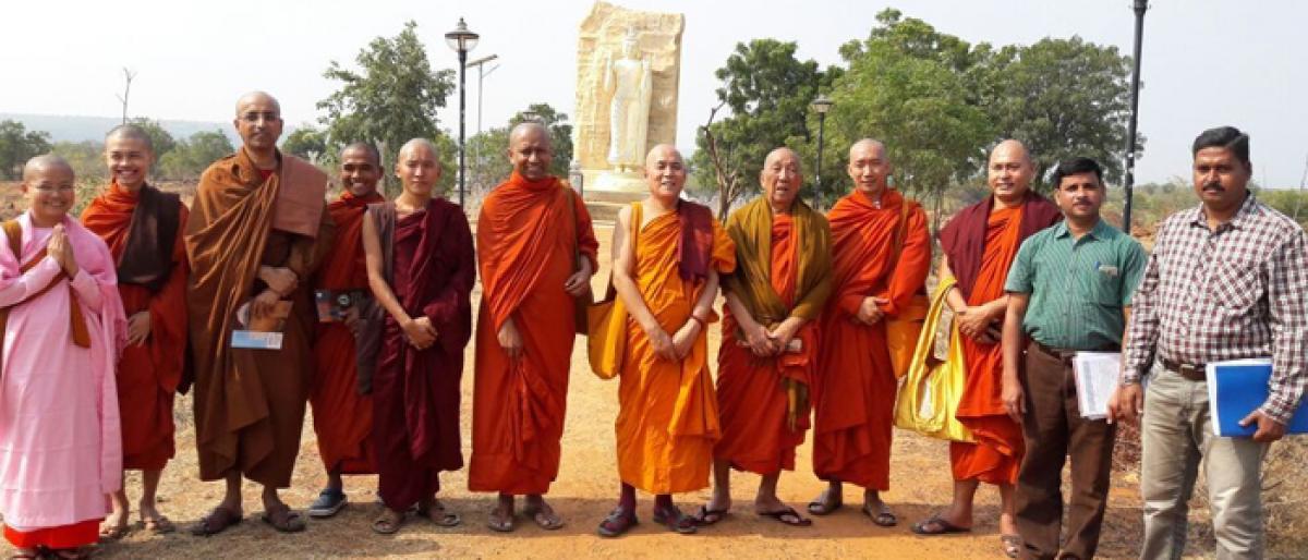 Monks from Bengaluru visit Buddhavanam