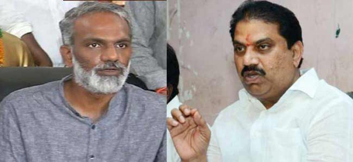 Rift between Radha, Vishnu comes to fore, trouble for YSRCP in Vijayawada