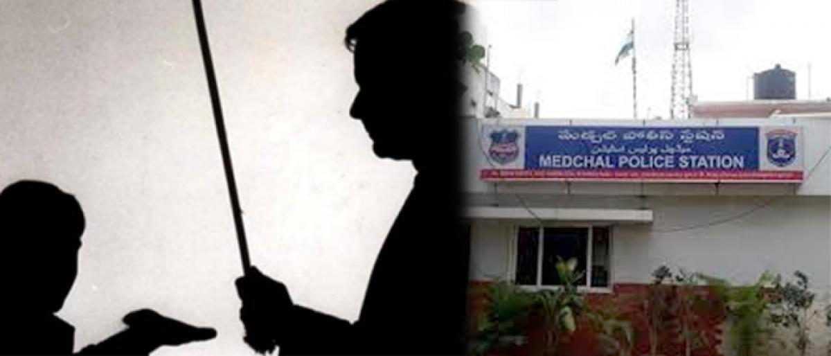 Parents filed complaint against a teacher in Medchal PS