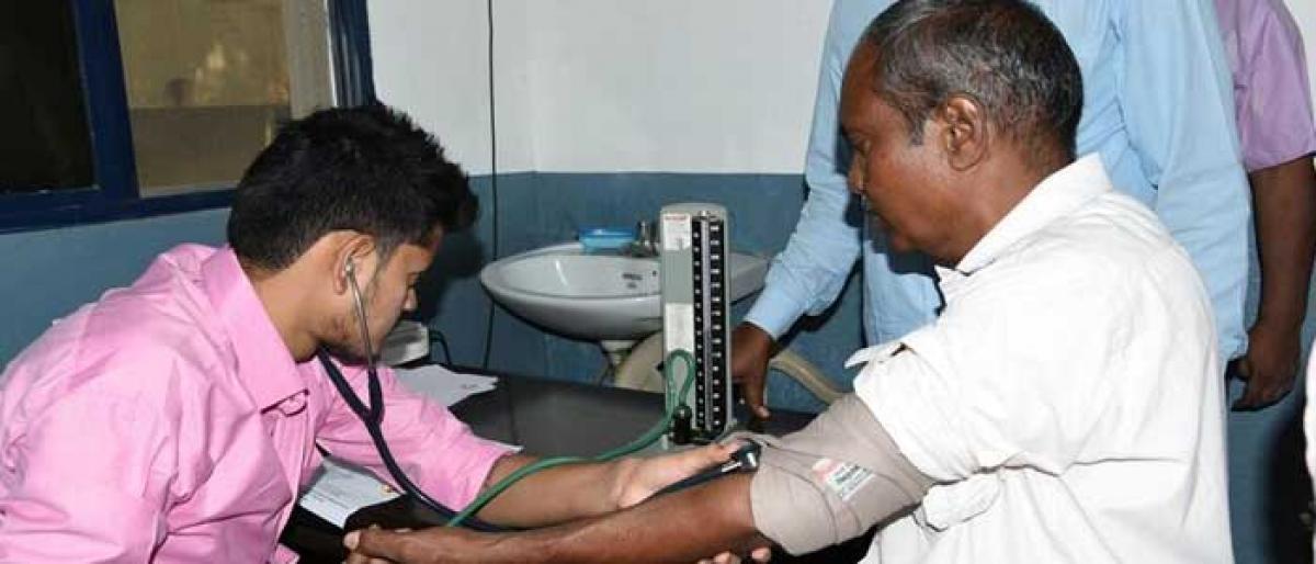 Medical camp for cops held in Karimnagar