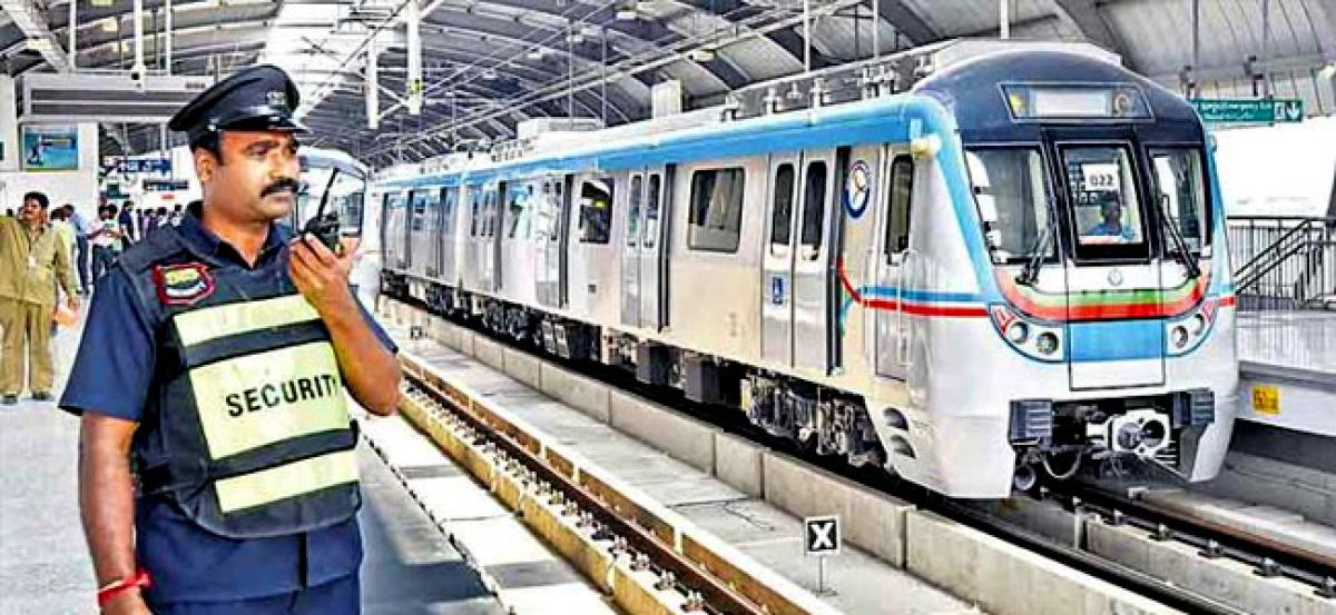 Foolproof security arrangements in place for the Ameerpet-LB Nagar Metro route