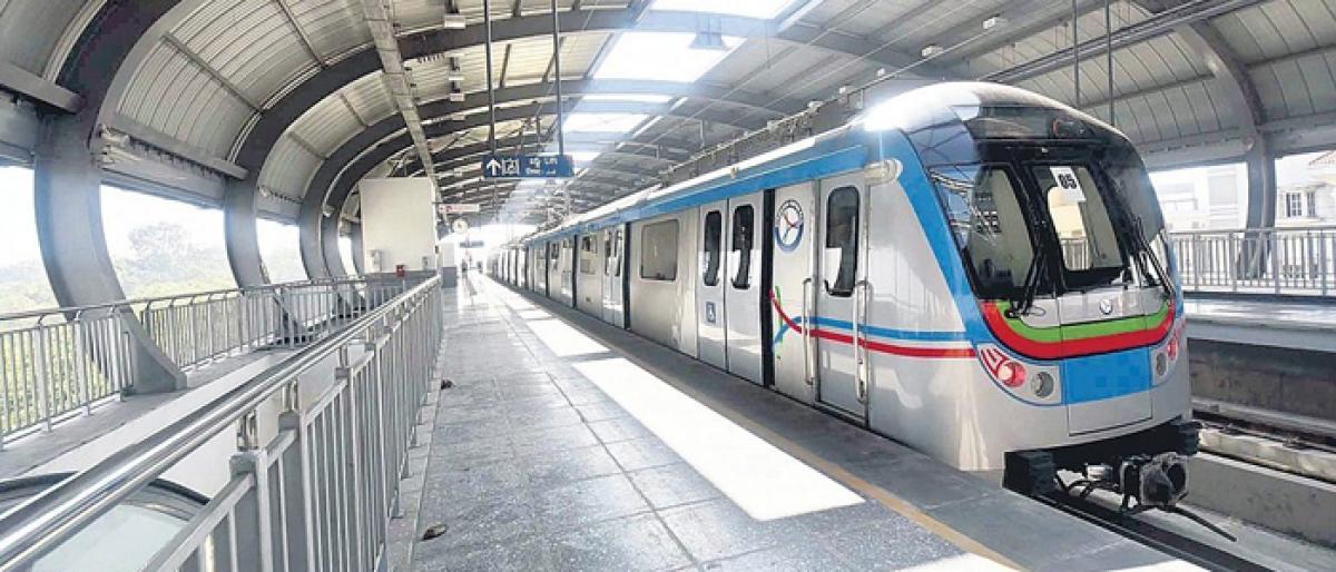 Carbon emission makes Hyderabad metro trains stop.