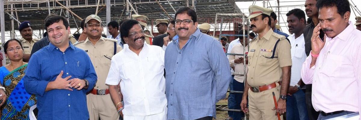 Minister Siddha Raghavarao orders foolproof arrangements for Gnanabheri