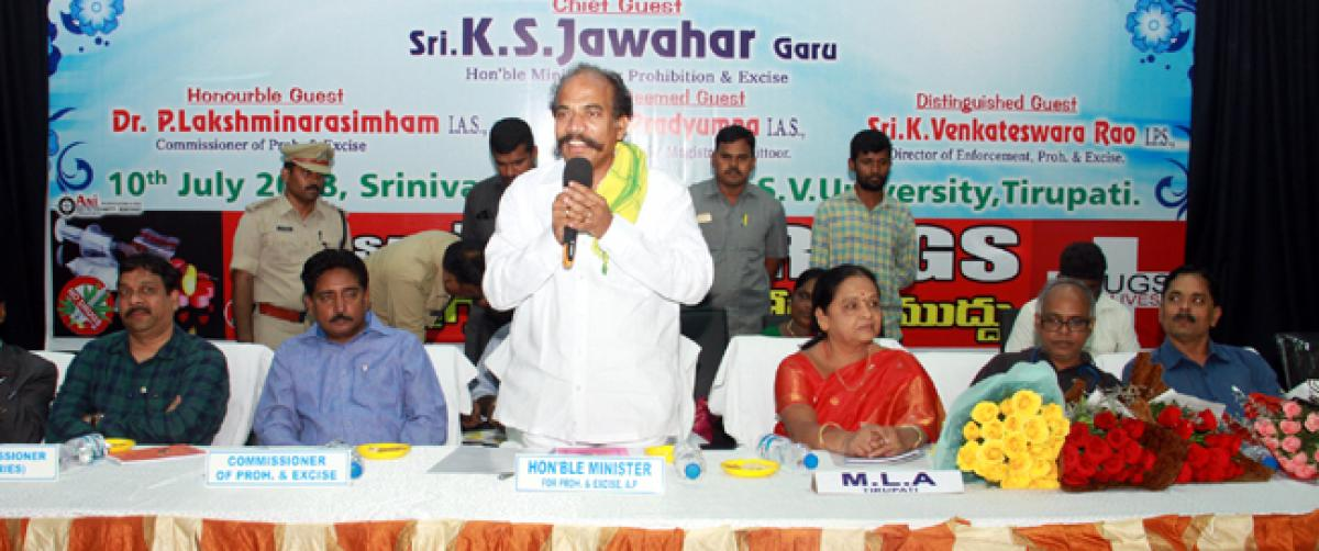 Role of youth key to making AP drugs-free: P and E Minister