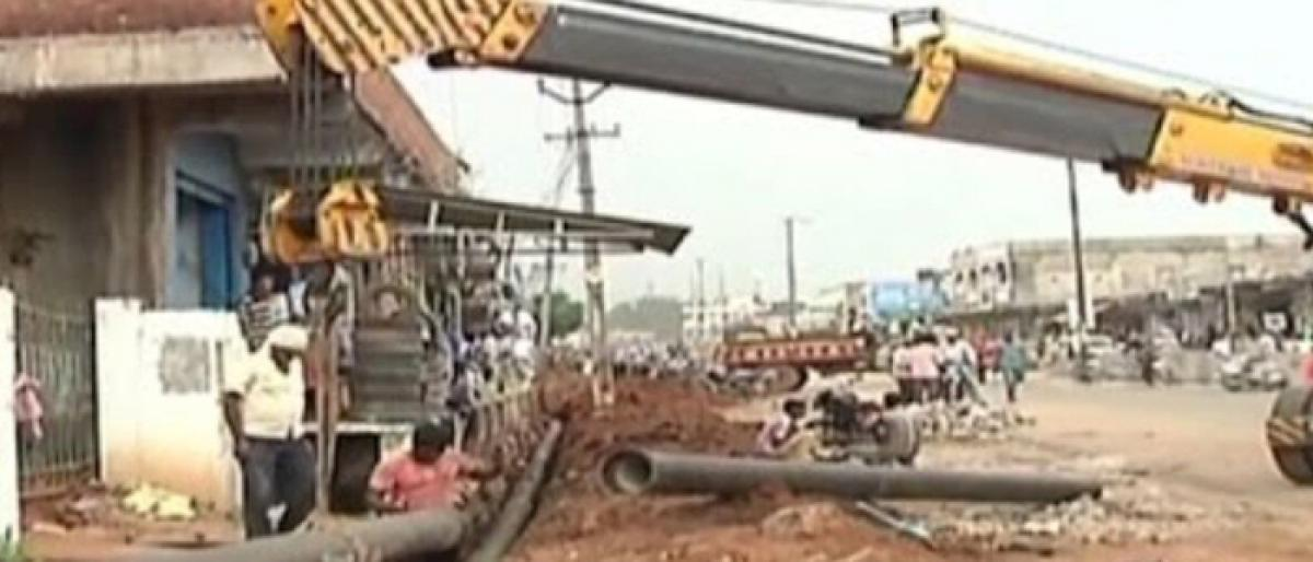Officials race against time to wrap up Mission Bhagiratha works