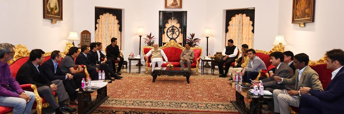 Meeting of the PM and actors